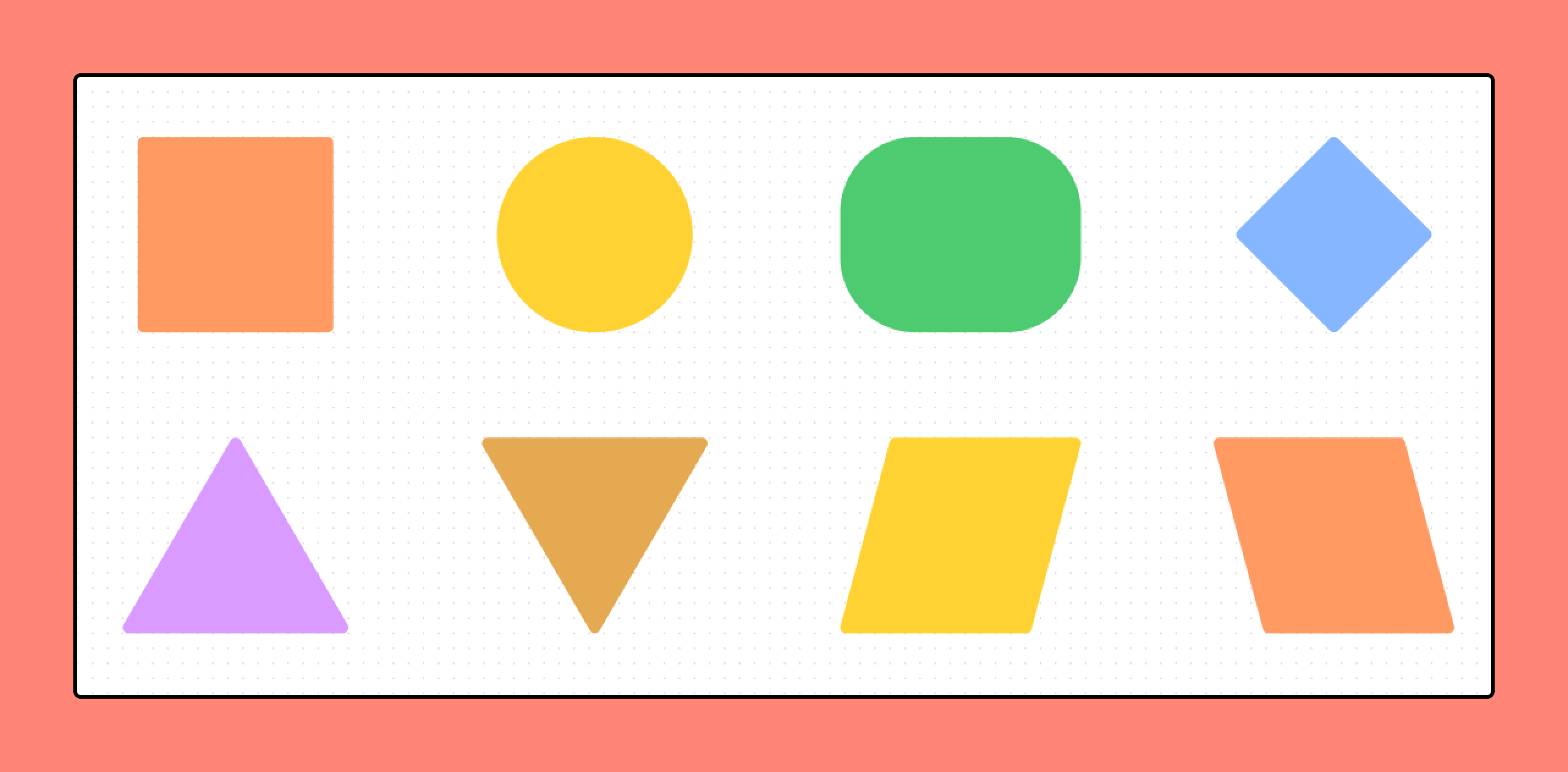 Available shapes in FigJam